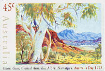Ghost Gum - painting by Albert Namatjira