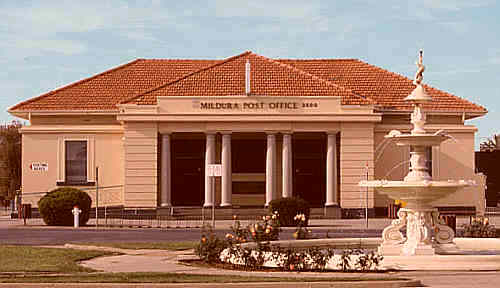 Post Office in Mildura - central Australia