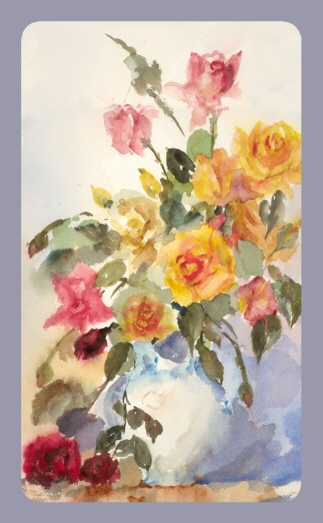 Roses in Vase - Water Colour painting by Jennifer Shepherd