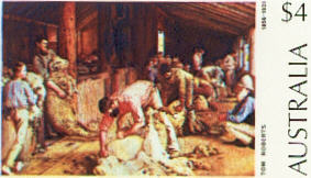 Shearing of the Rams by Tom Roberts