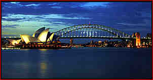 Sydney - Sydney Opera House and the Sydney Harbour Bridge